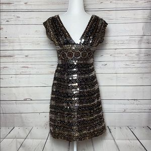 Scala Sequined Egyptian Prom Dress